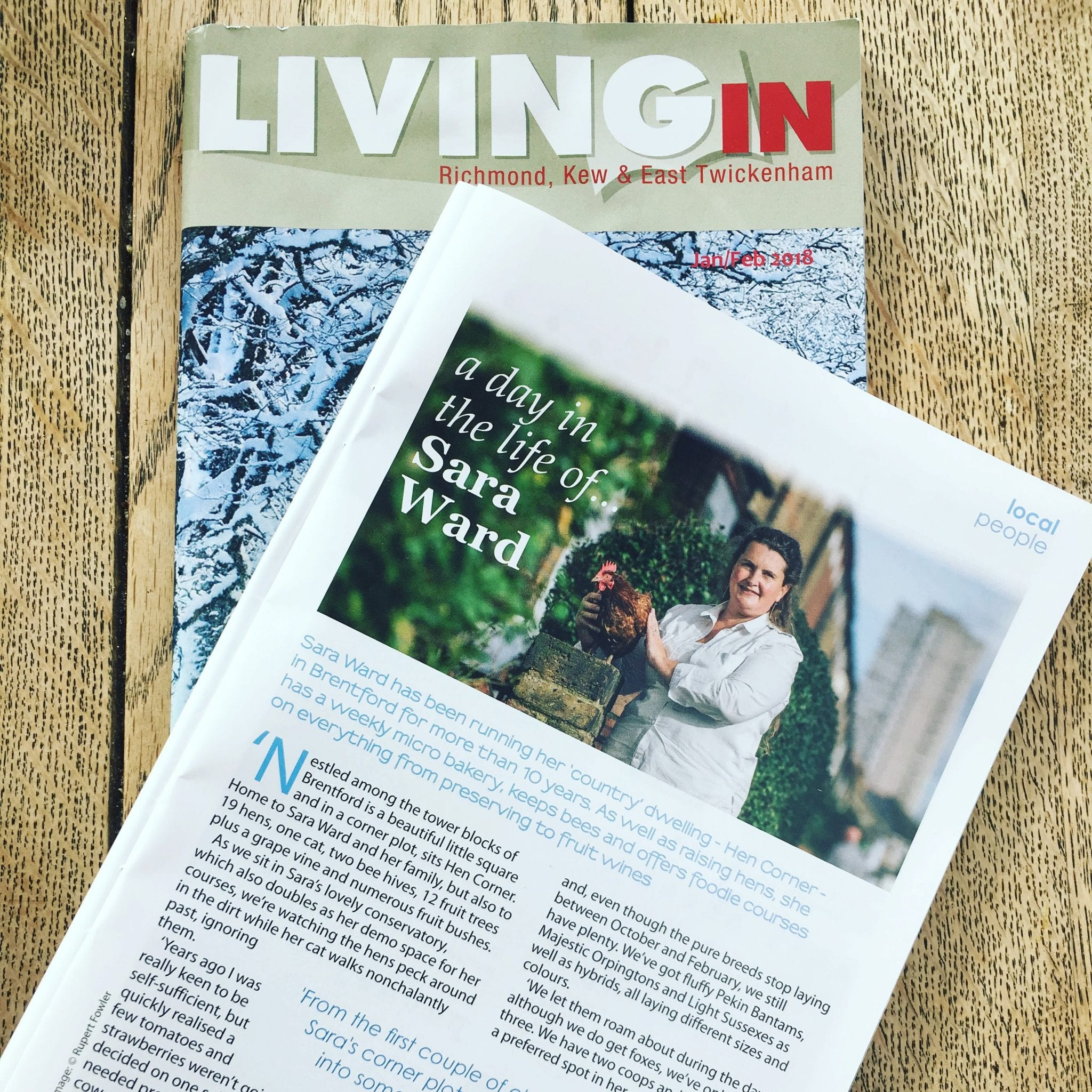 Living In Magazine living in magazine january 18 hen corner